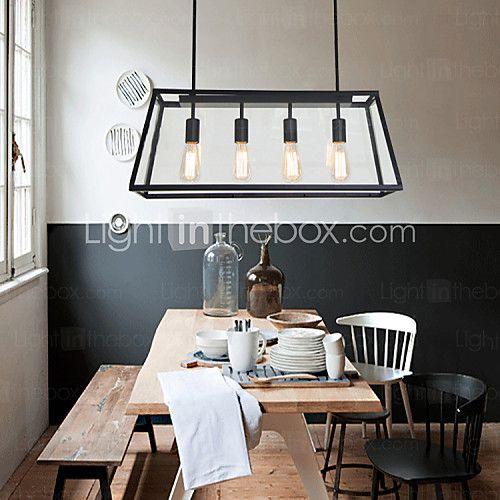Max 60W island Light ,  Vintage Pittura caratteristica for Stile Mini Metallo Salotto / Camera da letto / Sala da pranzo - EUR €205.79