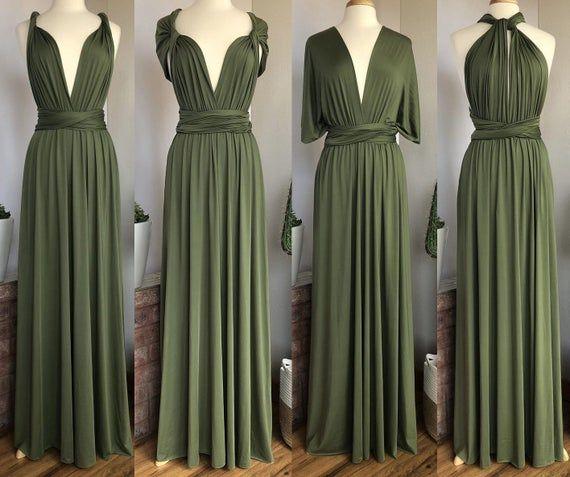 LIGHT OLIVE GREEN Bridesmaid Dress/ Custom Length