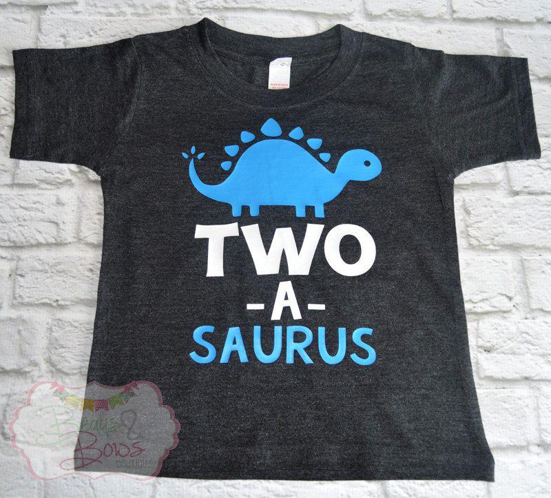 "2nd Birthday Shirt // Baby Boy or Girl ""Twoasaurus"