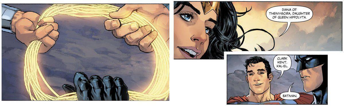 Wonder Woman. Superman. Batman