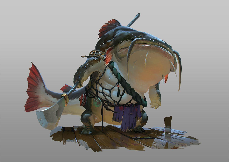 ArtStation - Catfish Guard, Rudy Siswanto | Anthro