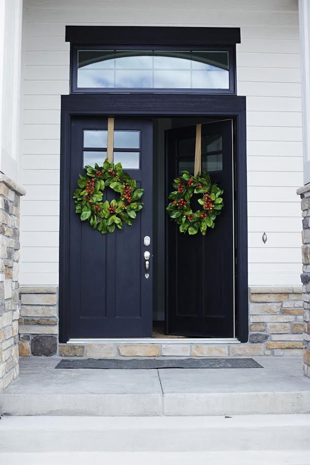 Modern Farmhouse Home Tour With Household No 6 Double Black Front Entry Doors