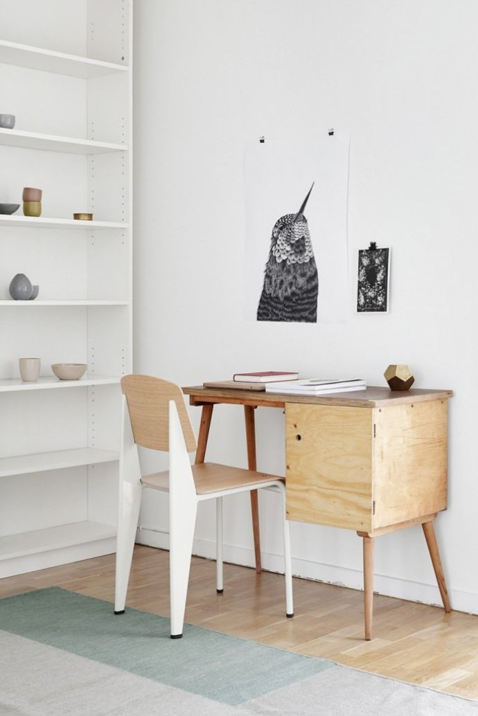 Get inspired with this collection of simple + natural workspaces for kids.