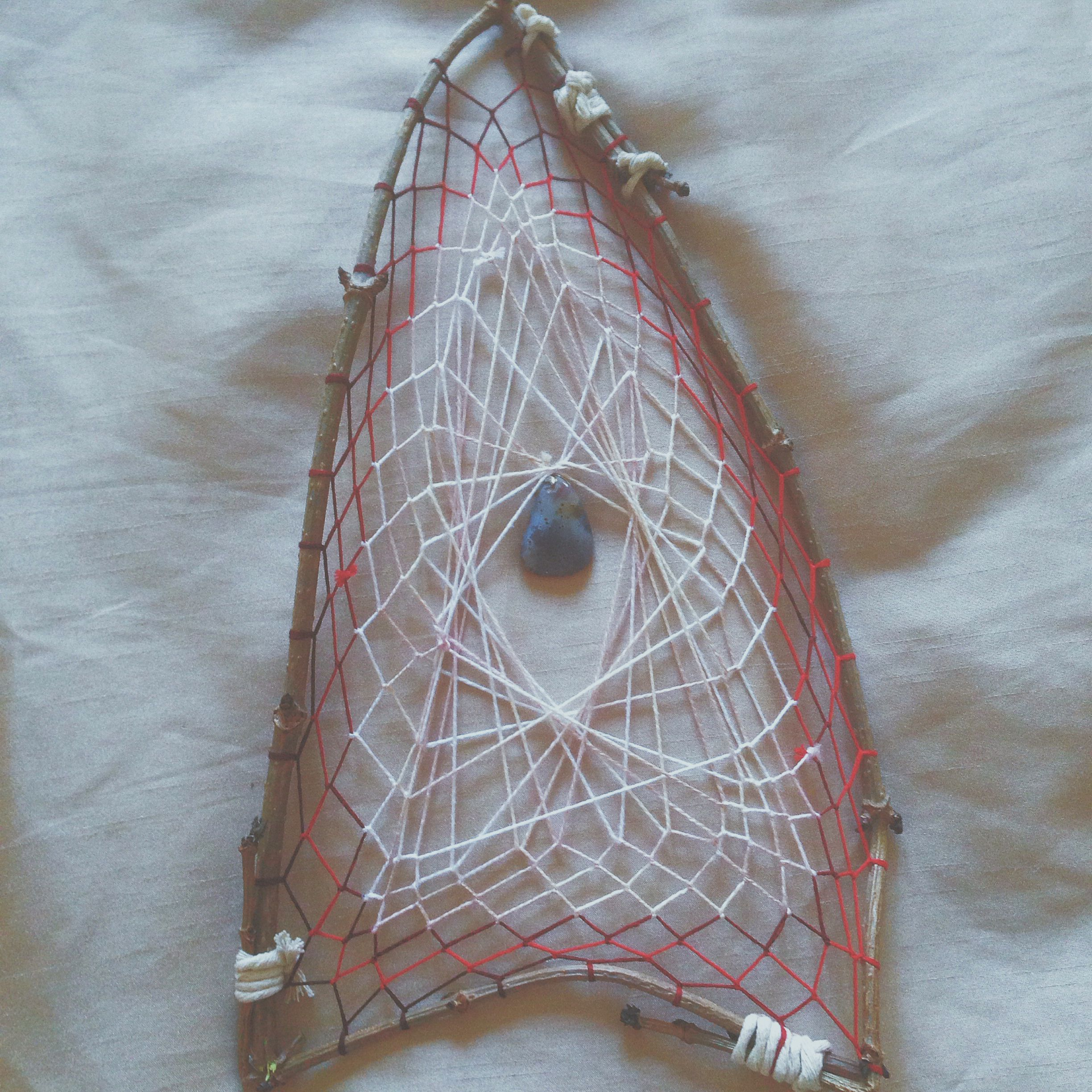 Dream Catcher Maker Hand made natural dream catcher maker from dyed thread and tree 33