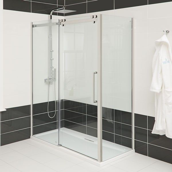 Trinity Premium 10mm Right Hand 1400 Sliding Door Sliding Shower Door Shower Doors Sliding Doors