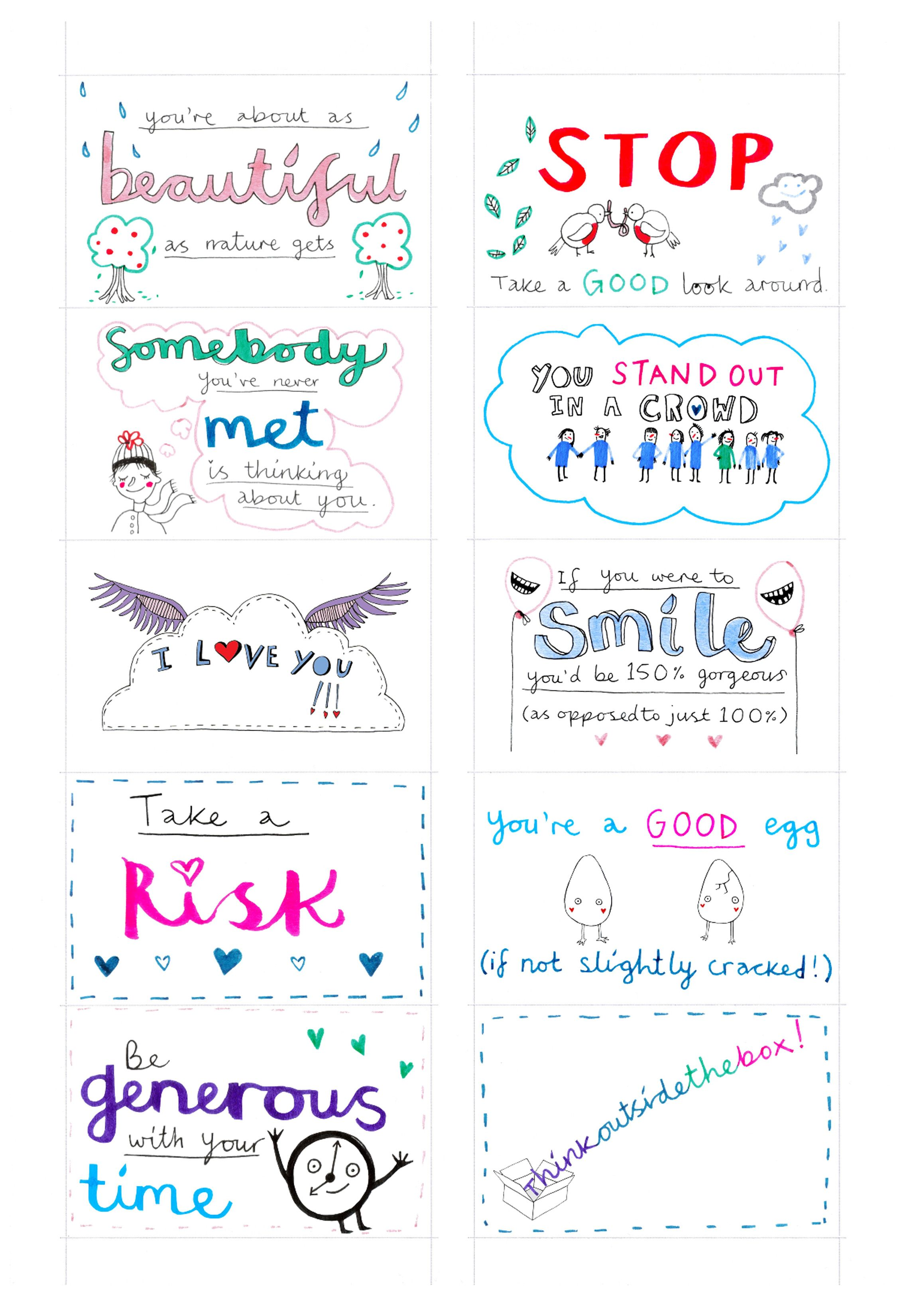 image about Random Act of Kindness Printable named random functions of kindness printable Playing cards, Paper