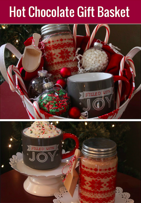 Hot Cocoa Gift Basket with Homemade Cocoa Mix | Holidays | Pinterest ...