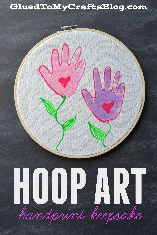 Embroidery Hoop Handprint Keepsake