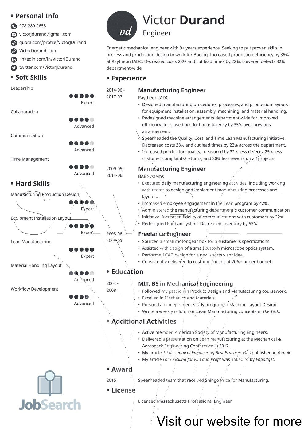 Resume Examples by Industry and Job Title Sample resume