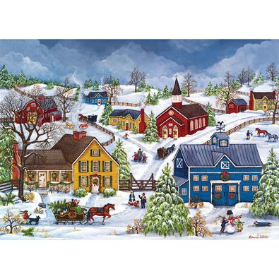 We Re Home With The Tree 1000 Piece Jigsaw Puzzle Christmas Art Americana Art Winter Art