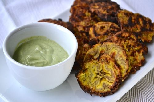 Baked Plantains with Ginger Cilantro Cream | Appetites Anonymous
