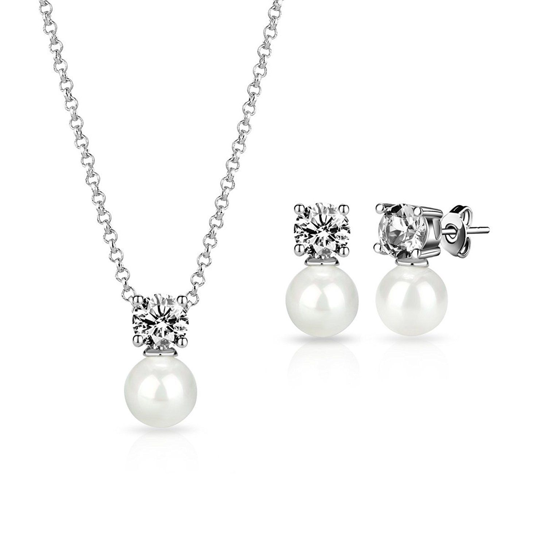 Red & Silver Crystal Bridal Jewellery Set Drop Earrings Bracelet & Necklace S651 24jWH7PaIk