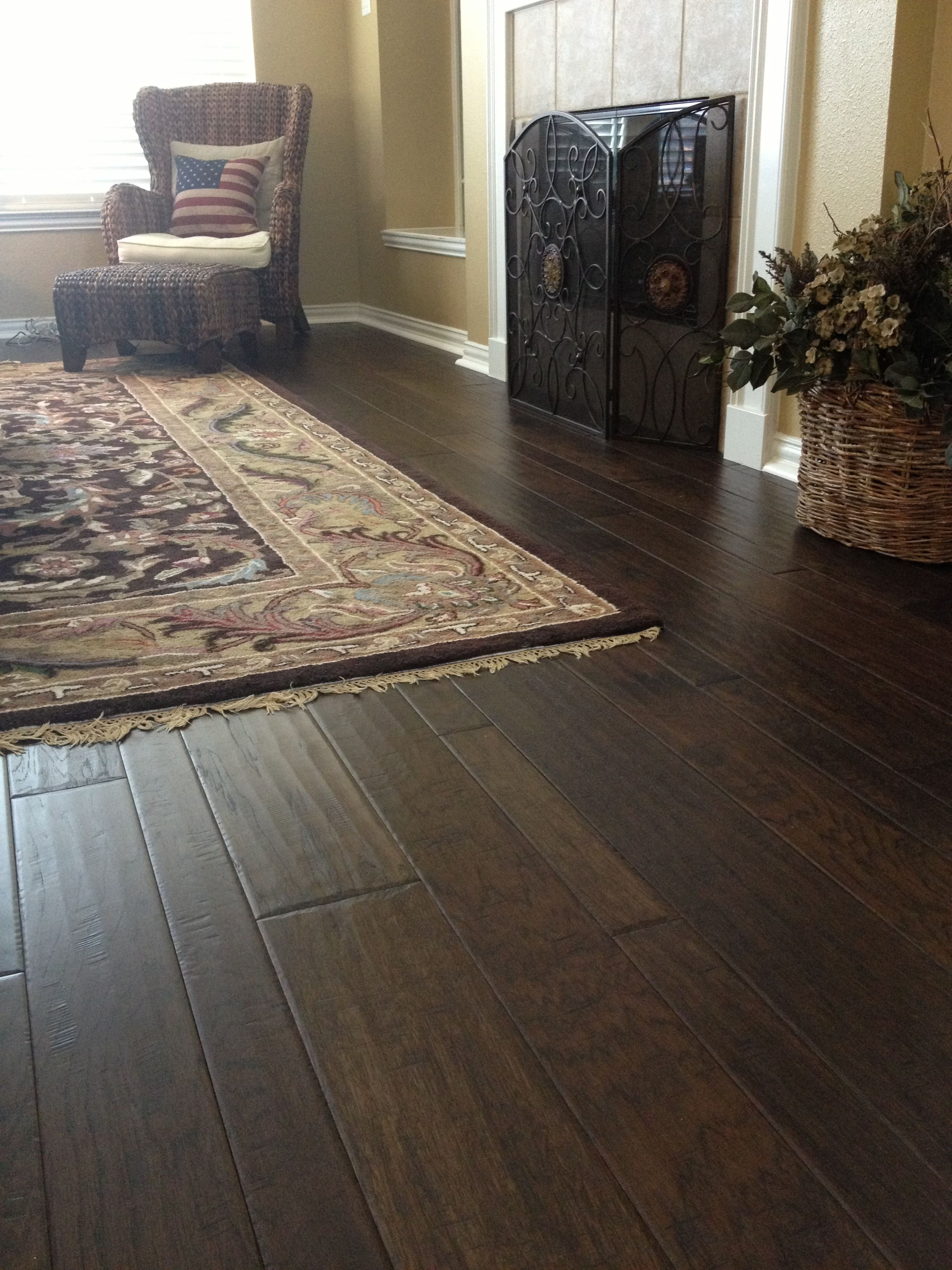 Dark Wood Floors Are Perfect For Adding A Homey