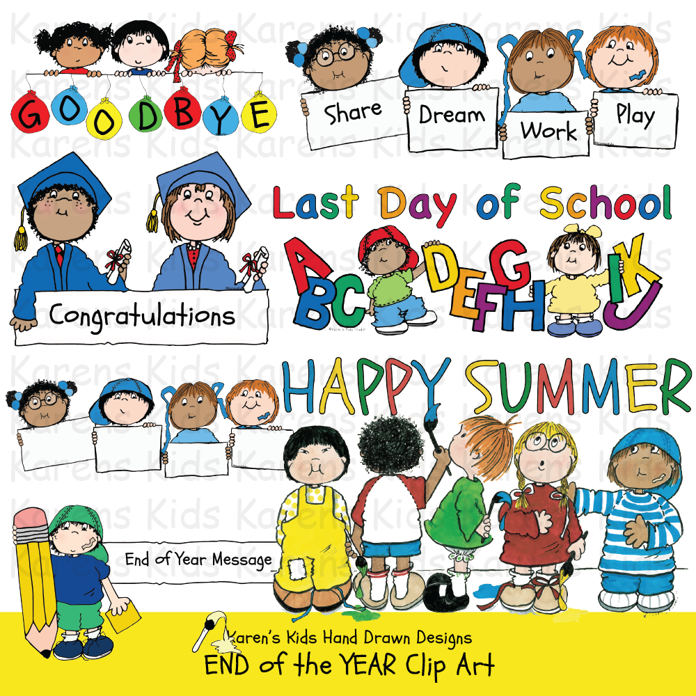 Clip Art End Of Year Kids In 2021 Clip Art Kid Holding Balloon Memory Book Cover