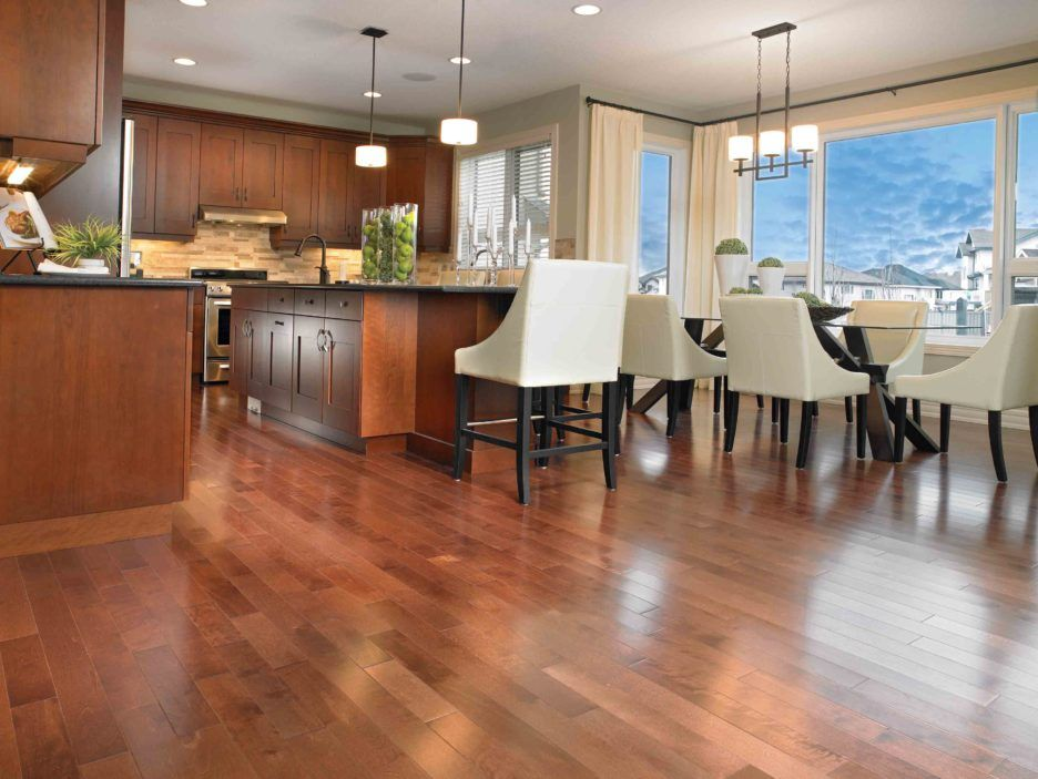 Kitchen Dining Room Flooring Beauteous Amazingdesignbeautifulwoodflooringideasredcherrywood Design Inspiration