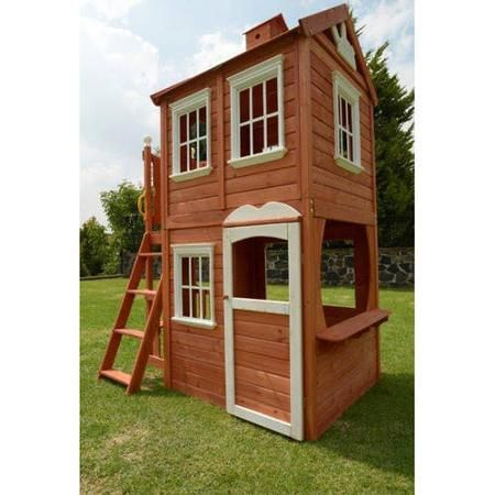 Sportspower Double Decker Wood Playhouse Walmartcom Meet Me In