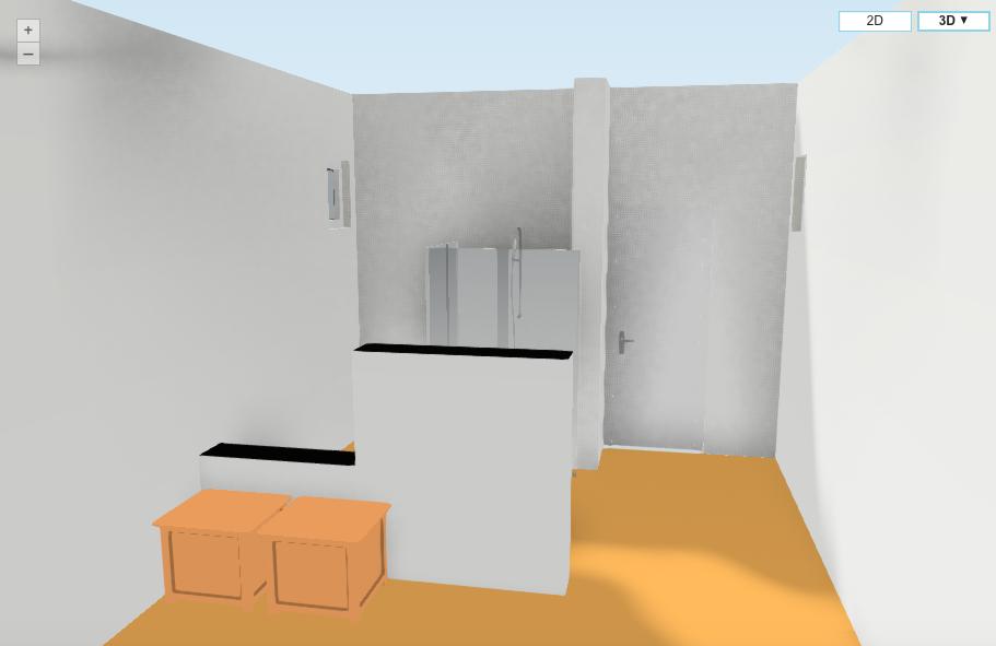 Badkamer plattegrond 3d