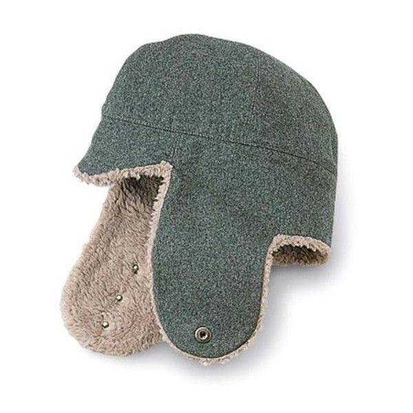 Wool Ear Flap Hat Vintage Swiss Herringbone Winter Hat made of ... 30ca806f06a
