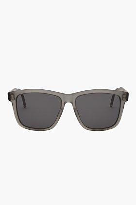080c9beee06 THOM BROWNE Matte Grey Wayfarer Sunglasses