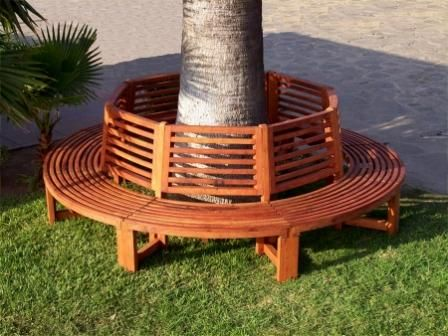 Bench Around Tree Trunk Outside Pinterest Tree Trunks Bench And Gardens