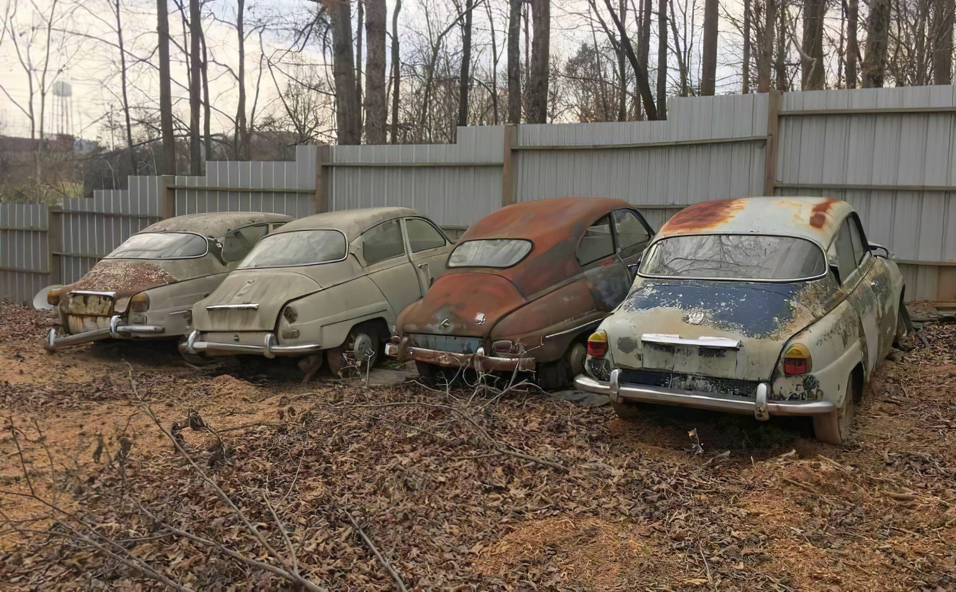 Saab Graveyard Saab Abandoned Cars Vintage Cars