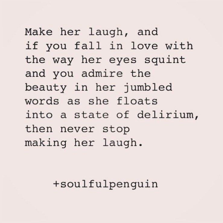 make her laugh⠀ •⠀ •⠀ •⠀ life quotes quote happy