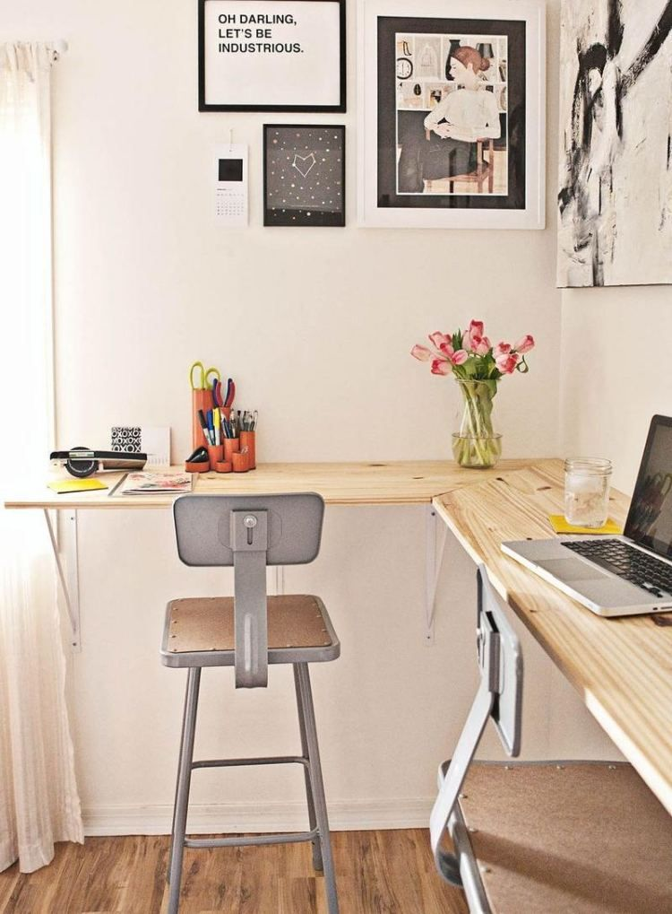 eckschreibtisch selber bauen 50 ideen und anleitungen arbeitsplatz pinterest. Black Bedroom Furniture Sets. Home Design Ideas