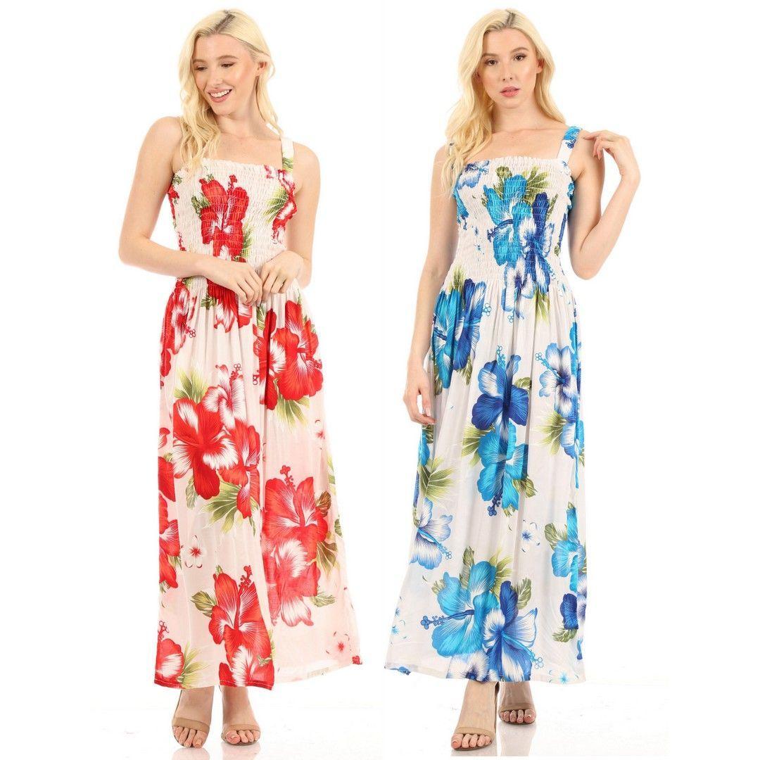 Sakkas Naida Women S Casual Summer Long Sleeveless Stretchy Floral Print Dress Flattering Maxi Dress Maxi Dresses Summer Casual Dresses [ 1080 x 1080 Pixel ]