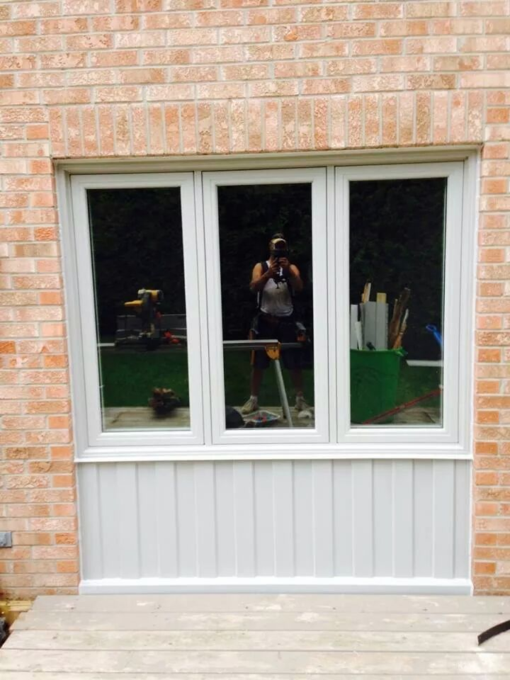An Option For Filling In The Space Left Behind After Removing A Garage Door Backyard Garage Garage Doors Garage House