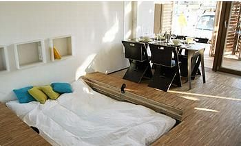 Awesome 2007 Solar Decathlon German Team Wins    Bed Sunk Into The Floor