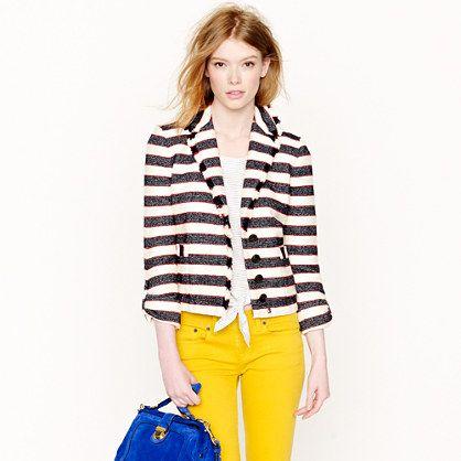 Legion stripe jacket @ JCrew - fun jacket!