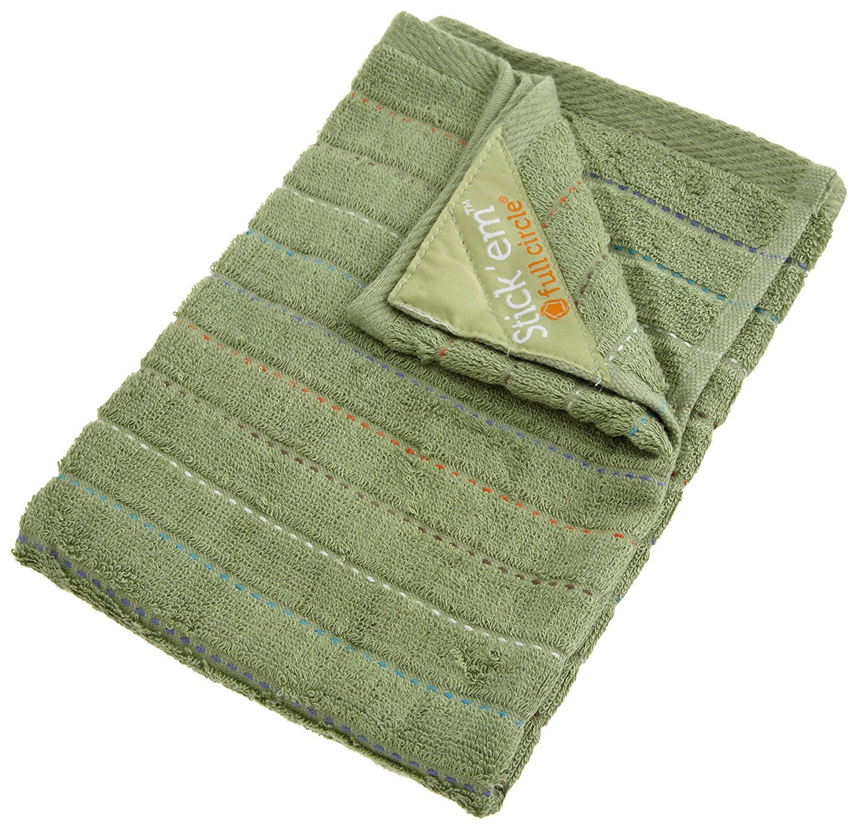 Full Circle Stick'em kitchen dish towel, Green
