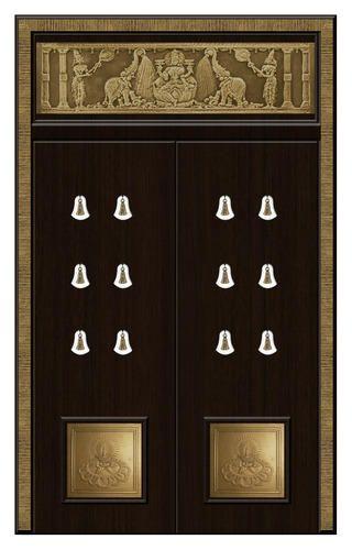 Pooja Room Door Designs With Bells: Black Golden Door, Maria Bell–LaPadula