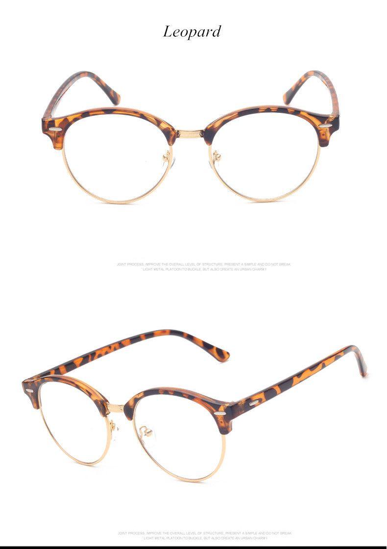 0da67d07e6 Brand Fashion Half Frame Male Eyeglasses Women Vintage Round Men Eye Glasses  Frame Optical Spectacle Frame Prescription Eyewear Great