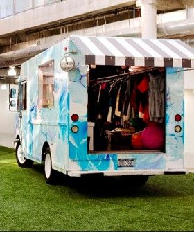 Cynthia Rowley Shop On Wheels Comes To Revolve Clothing In Los Angeles Mobile Boutique Rowley Mobile Fashion