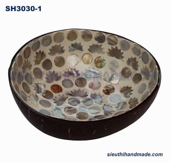 Lacquer Coconut Bowls  Made In Vietnamese: Mother Of Pearl Coconut Bowls   Background White Co.