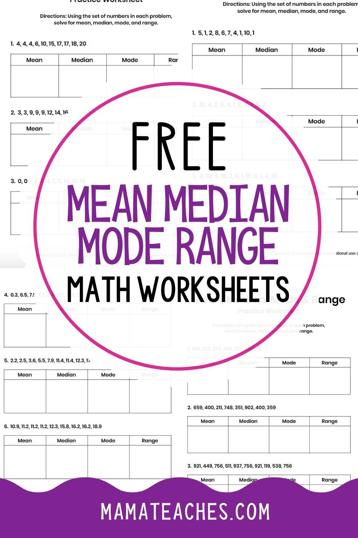 Mean Median Mode Range Worksheets Free Printables Mean Median And Mode Math Worksheets Free Math Worksheets [ 1500 x 1000 Pixel ]