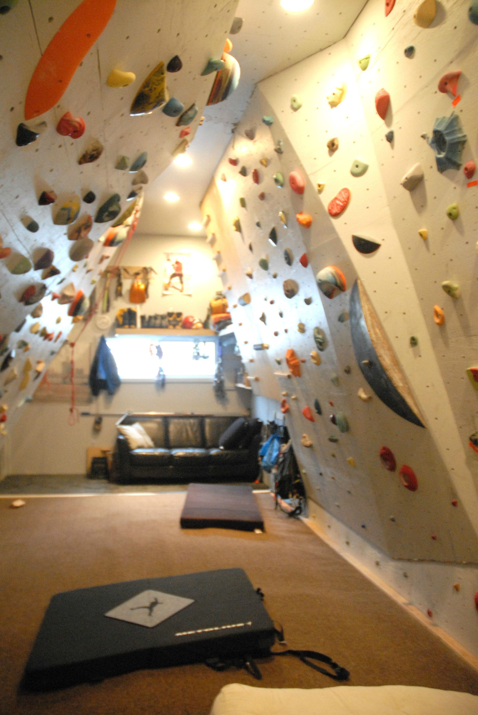 This family wanted to renovate their house so they built for Home climbing