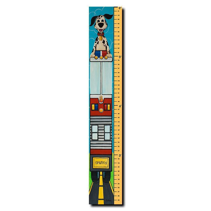 """Trademark Fine Art 8x48 inches """"6 Foot Growth Chart - Growth Spark"""" by Sylvia Masek"""