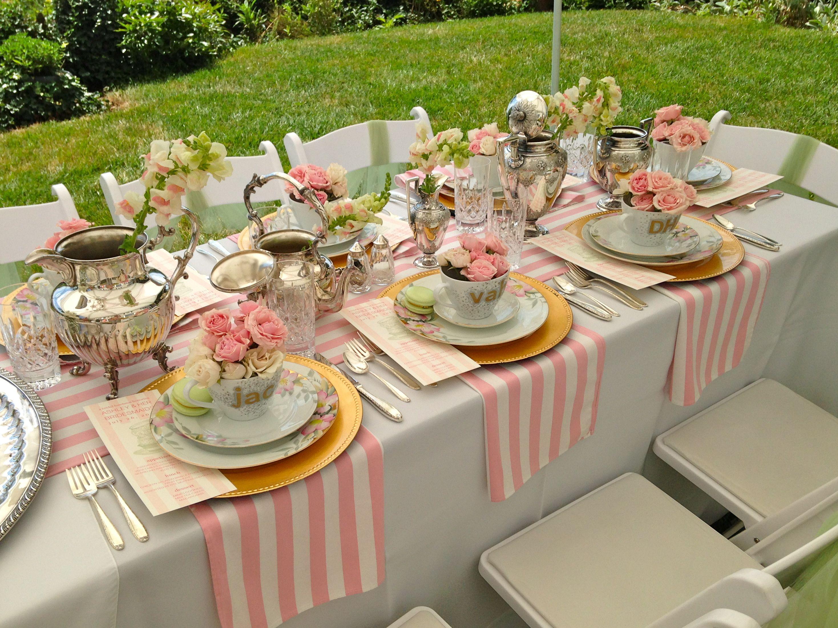 bridesmaids luncheon   Garden Tea Party   Pinterest   Bridesmaid ...