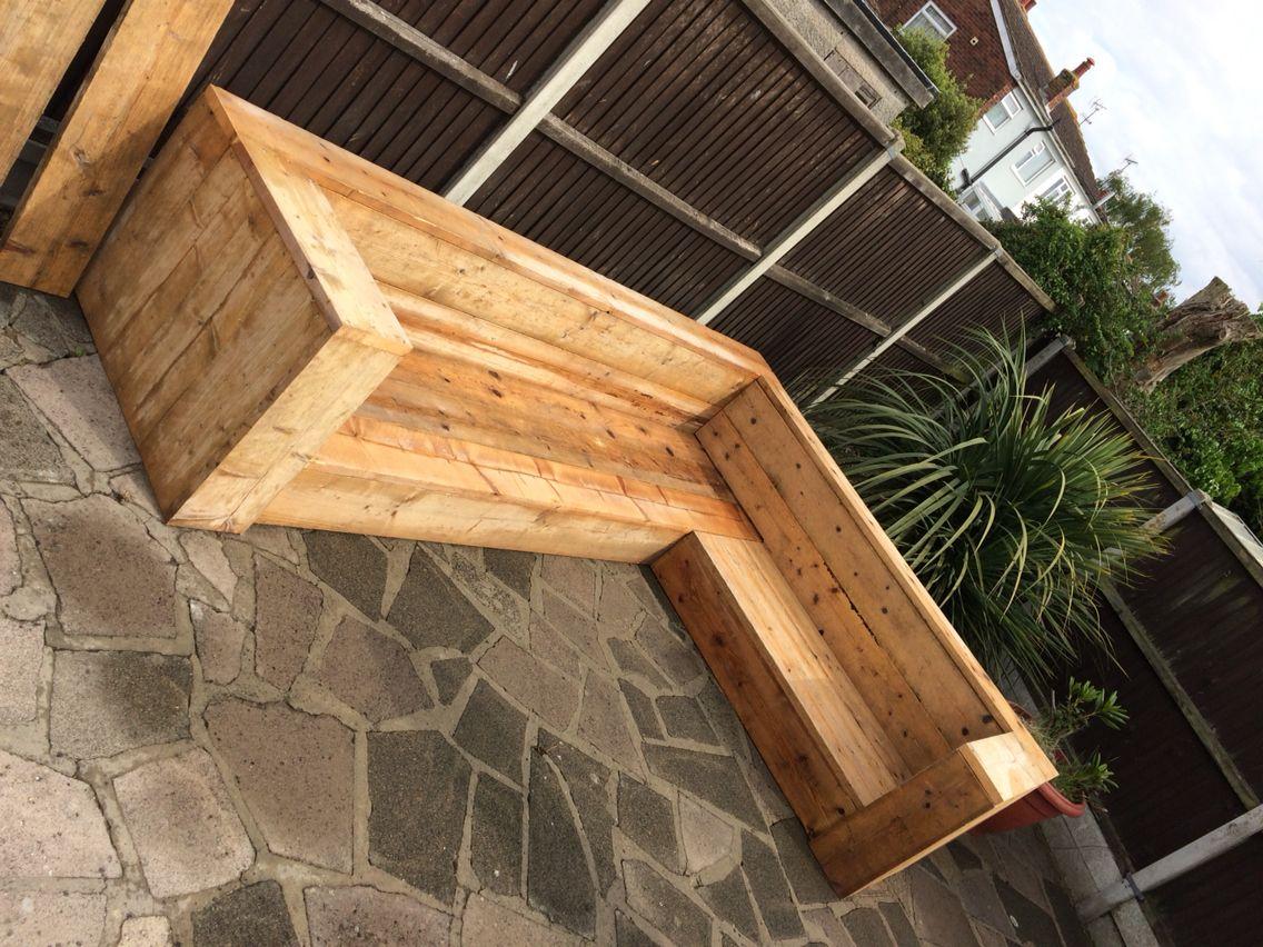 Reclaimed Scaffold Board Sofa Furniture Wooden Garden