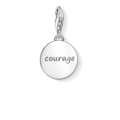 "Charm pendant ""COURAGE"" from the Charm Club collection in the THOMAS SABO online store"