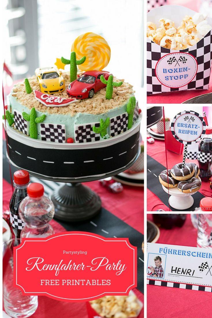 Partystyling Für Autorennen / Rennfahrer Kindergeburtstag. Hot Wheels ...