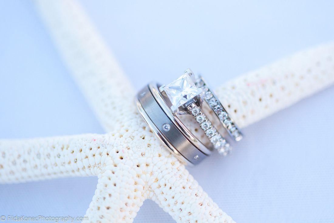 key west wedding ring photo wedding bands on starfish Wedding