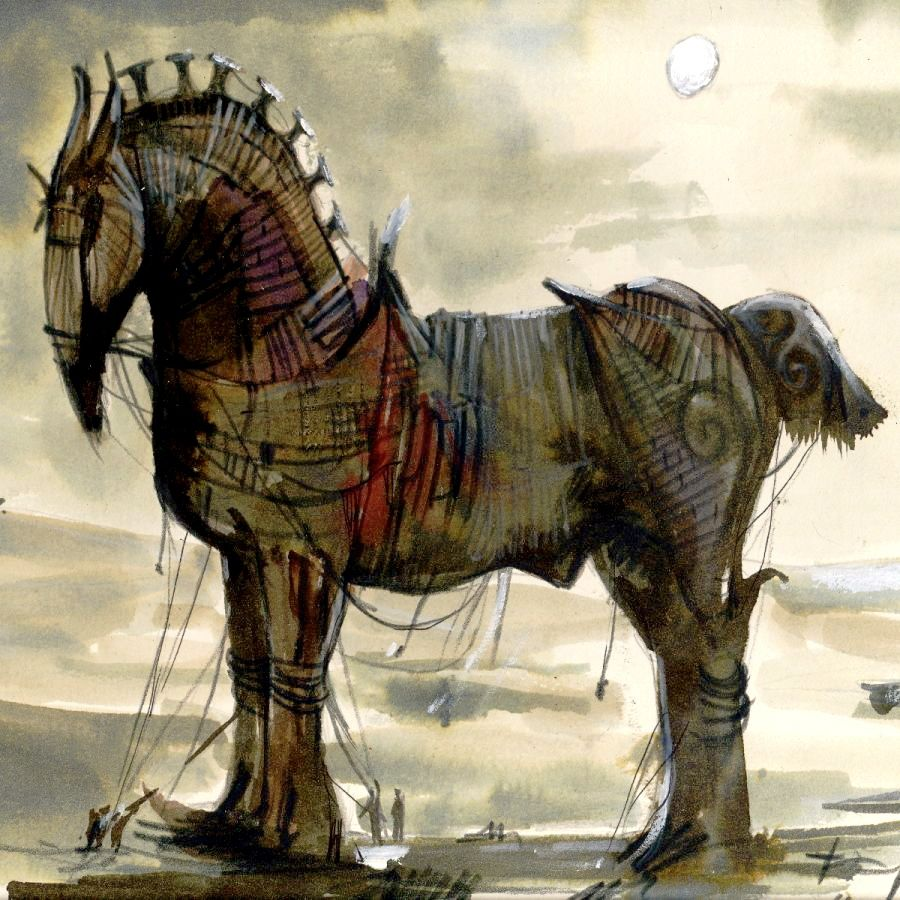 Trojan Horse Painted My Kingdom For A Horse Trojan Horse