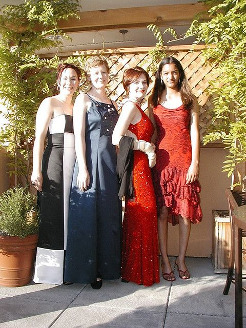 Liz, Kate, Me, and Amy before prom. My high school prom dress This ...