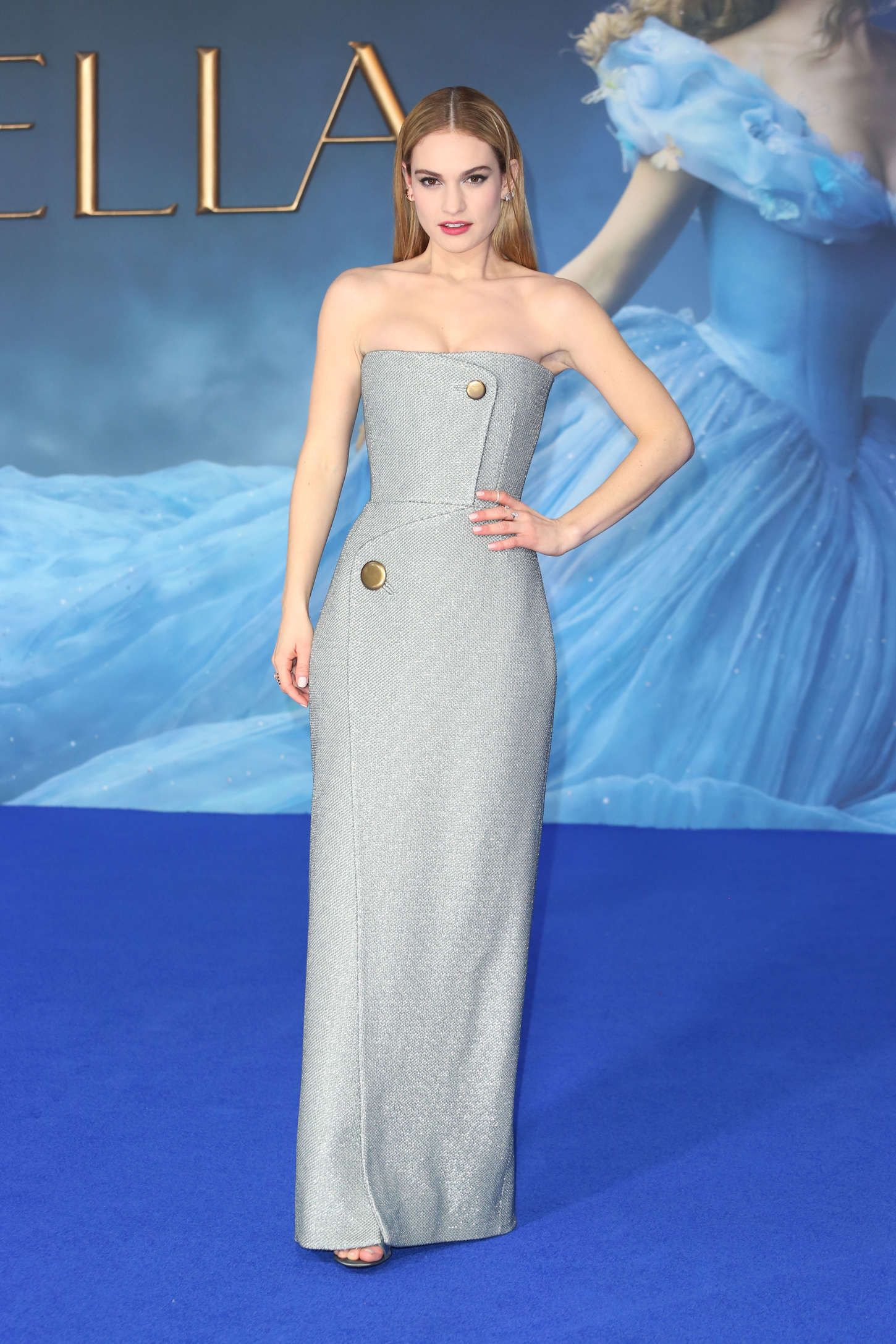 Lily at London Cinderella Premiere | Lily Chloe Ninette Thomson ...