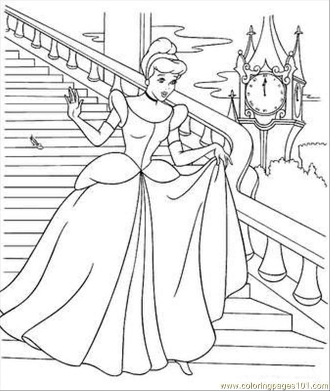 A4 Colouring Pages To Print For Adults : Cinderella coloring page 2 njs party planning board pinterest