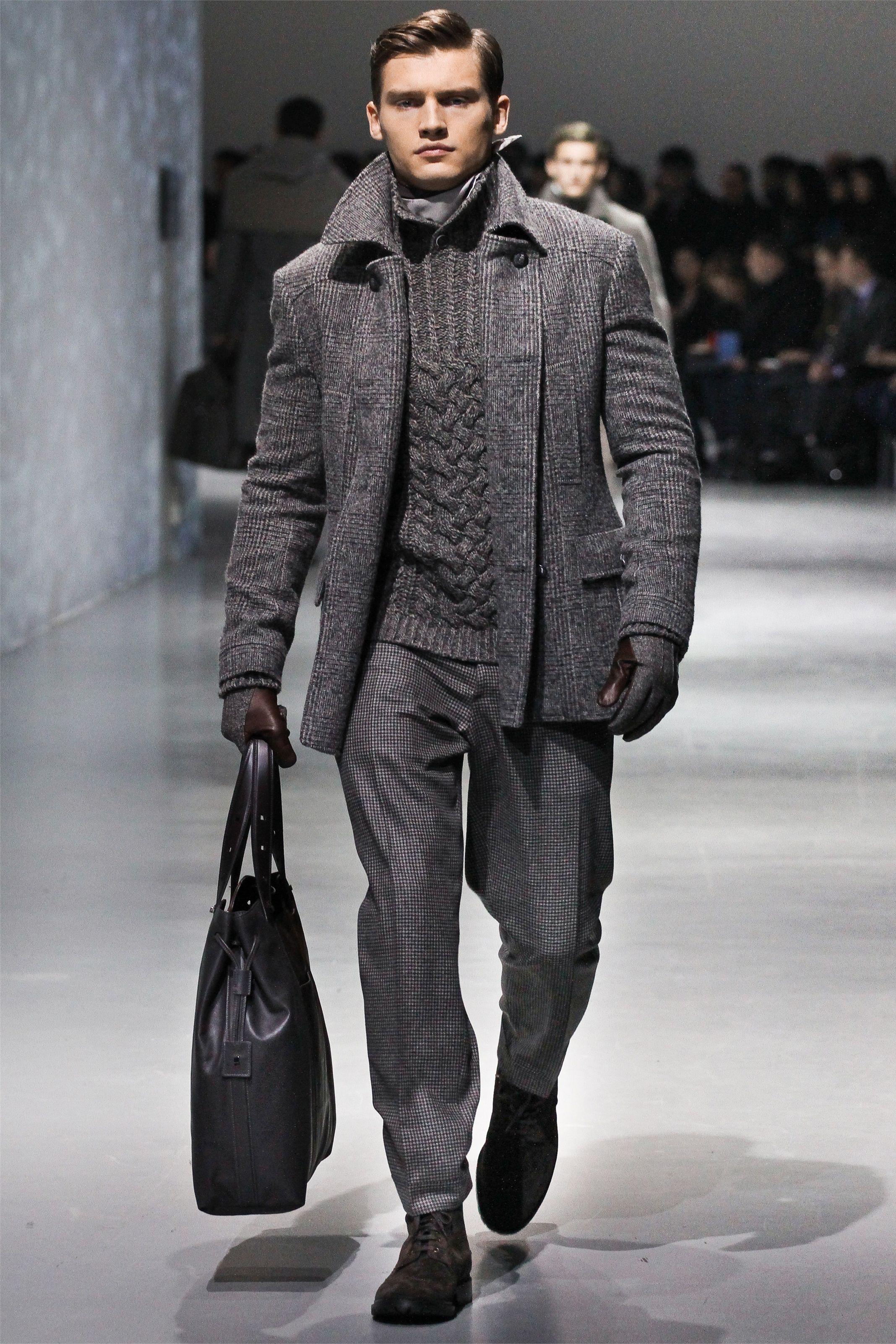 Corneliani Men Fashion Fall Winter 2012 13 Shows Klasik Look Pinterest