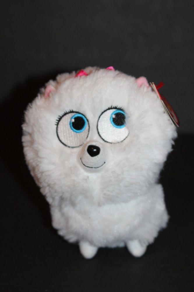 Ty Beanie Buddy Secret Life Of Pets Gidget The Dog Plush White Toy Ty With Images Plush Animals Secret Life Of Pets Beanie Buddies